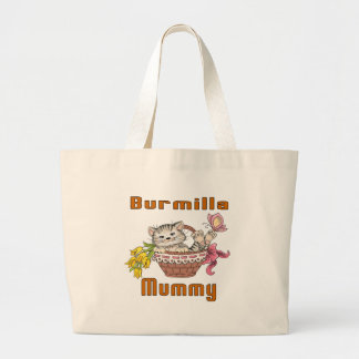 Burmilla Cat Mom Large Tote Bag