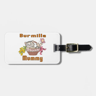 Burmilla Cat Mom Luggage Tag