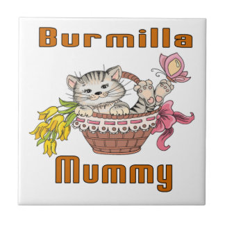 Burmilla Cat Mom Tile
