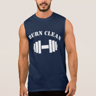 BURN CLEAN GYM WEIGHTLIFTING BODYBUILDING SLEEVELESS SHIRT