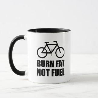 Burn Fat Not Fuel Bike Mug