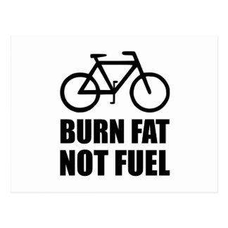 Burn Fat Not Fuel Bike Postcard
