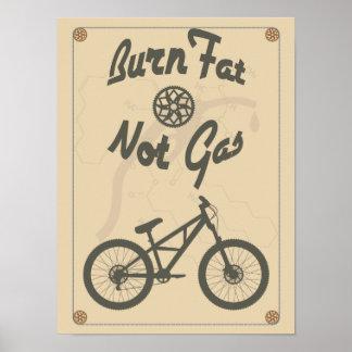 Burn fat not gas poster
