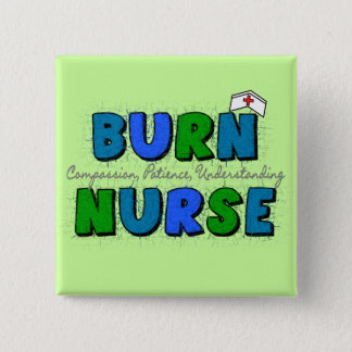 Burn Nurse Gifts--Artsy and Whimsical Design 2 Inch Square Button