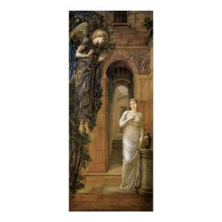 Burne-Jones Annunciation CC0433 Angel Poster