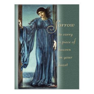 Burne-Jones Night CC0562 Comforting words Postcard