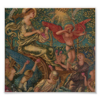 Burne-Jones, Triumph of Love Poster