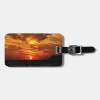 Burned Horizons Luggage Tag