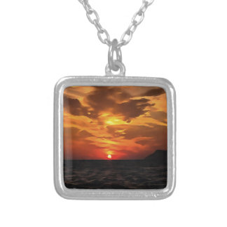 Burned Horizons Silver Plated Necklace