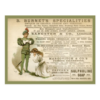 Burnet's Specialities Postcard