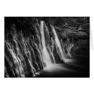 Burney Falls in Black and White Card