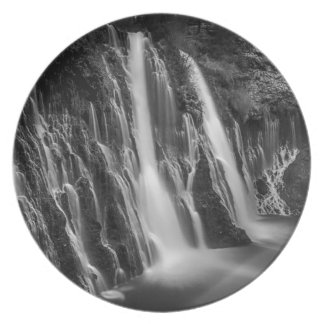 Burney Falls in Black and White Plate