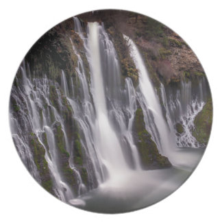 Burney Falls in Color Dinner Plates