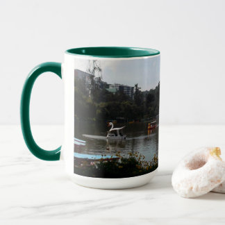 Burnham Park Boating, Phl., Green 15 oz Combo Mug
