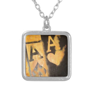 Burnig Aces Silver Plated Necklace