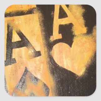 Burnig Aces Square Sticker