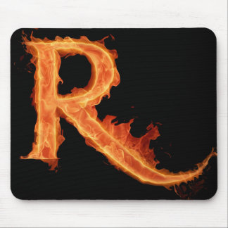 Burning Alfa - R Mouse Pad