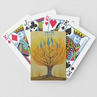 burning bush bicycle poker cards