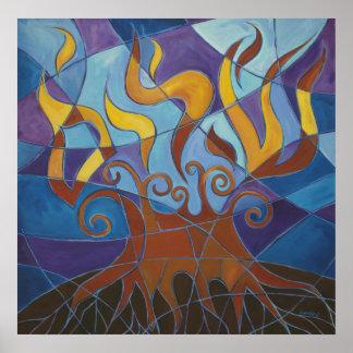 Burning Bush Mosaic II Print