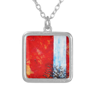 Burning Bush Silver Plated Necklace