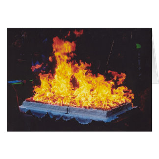 Burning Cake in New York City park Card
