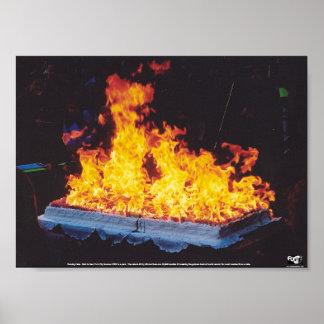 Burning Cake Poster