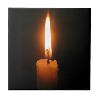 Burning Candle Ceramic Tile