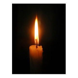 Burning Candle Postcard