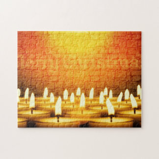 Burning candles - Merry Christmas Jigsaw Puzzle