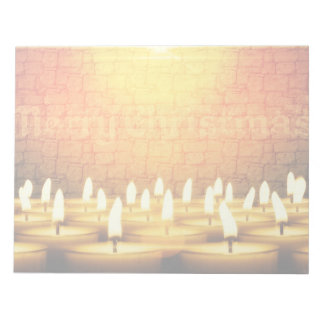 Burning candles - Merry Christmas Notepad