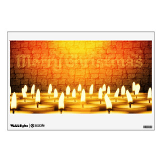 Burning candles - Merry Christmas Wall Decal