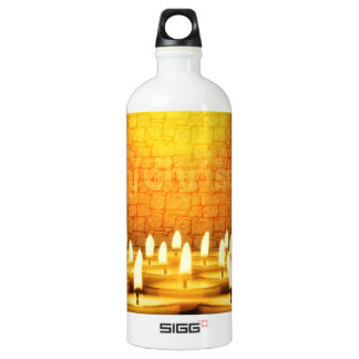 Burning candles - Merry Christmas Water Bottle