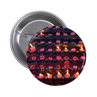Burning Candles of Santa Nino Basilica 2 Inch Round Button