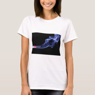 Burning cigarette print t-shirt