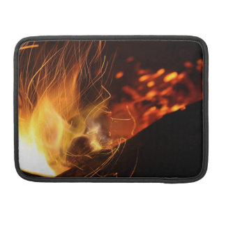 Burning Coal Fire Sleeve For MacBooks