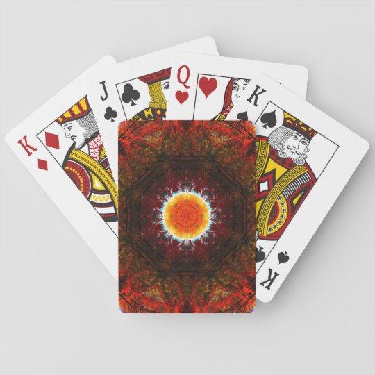 Burning Core Mandala Poker Deck