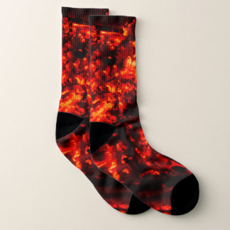 Burning Embers Awesome Fire Photo Socks 1