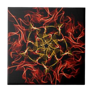 Burning Fire Fractal Design Tile