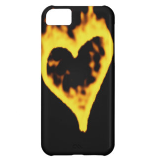 Burning Fire Heart iPhone 5C Case