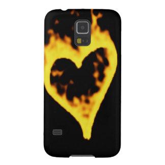 Burning Fire Heart Galaxy S5 Case