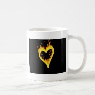 Burning Fire Heart Mug