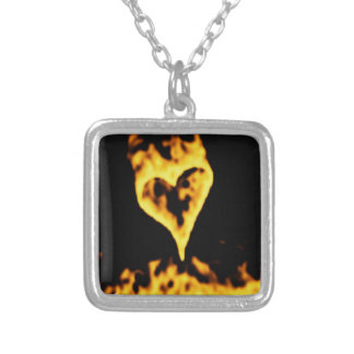 Burning Fire Heart Custom Jewelry