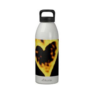 Burning Fire Heart Water Bottles
