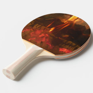 Burning Fire Ping Pong Paddle