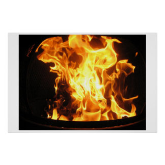 Burning Fire Poster