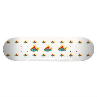 Burning Fish Skateboards/white/assorted fish Skateboard Deck