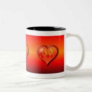 Burning Flaming Heart Mug