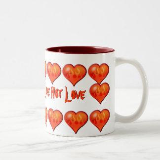 Burning Flaming Heart Coffee Mugs