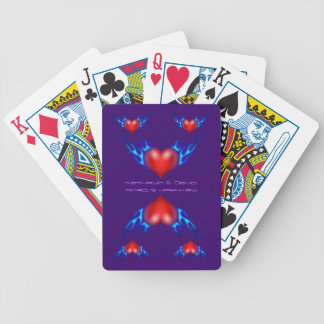Burning, Flaming Hearts Bicycle Poker Cards