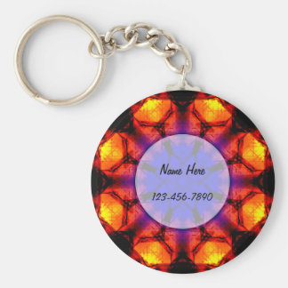 Burning Flower Mandala Keychain